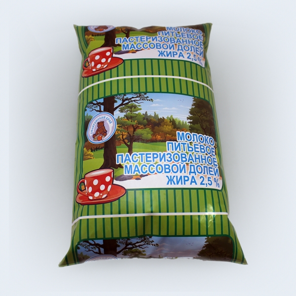 Milk paster. 2,5% fat polythene bag