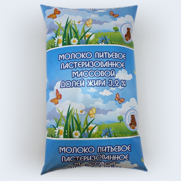 Milk 3,2% fat polythene bag